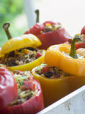 Bell Peppers stuffed with Spiced Rice Royalty Free Stock Photos