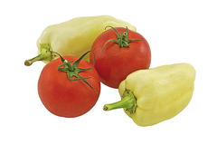 Bell peppers and tomatoes Royalty Free Stock Images