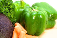 Bell Peppers and Vegetables royalty free stock photos