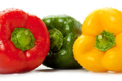 Bell peppers with water droplets Stock Photos