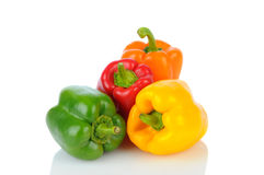 Bell Peppers on White Stock Photos