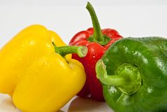 Bell peppers on a white background Royalty Free Stock Photography
