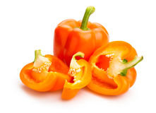 Bell peppers. On white background Stock Images