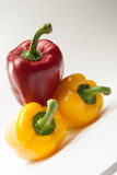 Bell Peppers on a white background Stock Image