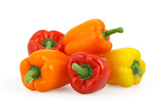 Bell peppers  on white with clipping path. Bell peppers  on white background with clipping path stock images