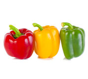 Bell peppers on white Royalty Free Stock Images