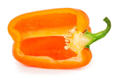 Free Bell Peppers With Half Isolated On White Stock Images - 65349174