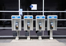 Bell Phone Booths. In Downtown Toronto Stock Images