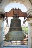 Bell placé sur la tour de Pise image stock