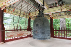 Bell in the Pohyonsa Buddhist temple, North Korea Royalty Free Stock Image