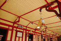 Bell przy stacją kolejową Obraz Stock