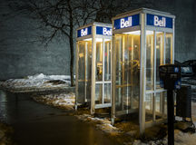 Bell public telephone Royalty Free Stock Photos