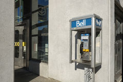Bell public telephone Royalty Free Stock Images