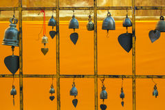 Bell rack. On the gold background Stock Photography