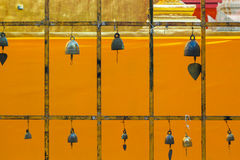 Bell rack. On the gold background Stock Image