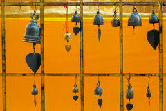 Bell rack. On the gold background Royalty Free Stock Photos