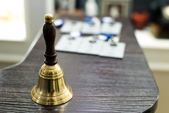 Bell on reception desk Royalty Free Stock Photography