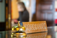 Bell on  reception  in hotel Royalty Free Stock Photos