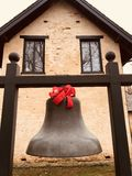 A bell with a Red Ribbon on the Ashland Estate - KENTUCKY. Ashland is the name of the plantation of the 19th-century Kentucky statesman Henry Clay, located in royalty free stock photography