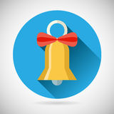 Bell with Ribbon Bow Icon  Vector Royalty Free Stock Photo