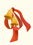 Bell with ribbon Stock Photo