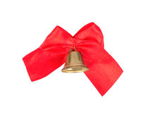Bell with ribbon Royalty Free Stock Photography