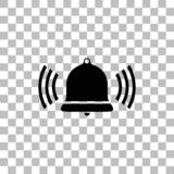 Bell Ring Voice icon flat stock illustration