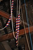 Bell ringing ropes. Royalty Free Stock Images