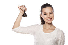 Bell rings Royalty Free Stock Images