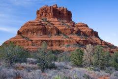 Bell Rock in Arizona. Bell Rock formation near Oak Creek village, Sedona, U,S,A stock photos