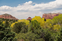 Bell Rock and Courthouse Butte Royalty Free Stock Images