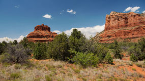 Bell Rock and Courthouse Butte in Sedona Stock Photography