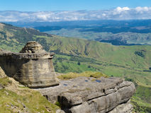 Bell Rock in Maungaharuru Range near Hawke Bay, NZ Stock Images