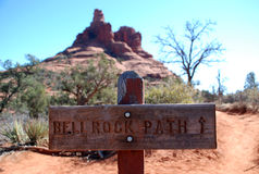 Bell Rock path near Sedona, Arizona Stock Images