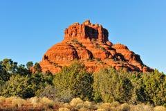 Bell Rock scenic Arizona. Scenic view of Bell Rock butte near Sedona, Arizona desert, U.S.A royalty free stock images