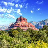 Bell Rock, Sedona. Famous bell rock and Courthouse Butte in Sedona, Arizona, USA Royalty Free Stock Photography