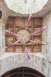 Bell ropes inside a church in cornwall england uk Royalty Free Stock Photography