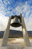 Bell of Rovereto - Trento Italy. The bell of peace, merged with the guns of the 19 nations that took part in the First World War - Rovereto, Trento, Italy Stock Photos