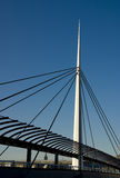 Bell's Bridge, Glasgow. Bell's Bridge in Glasgow, Scotland, UK, spanning the River Clyde Royalty Free Stock Photos