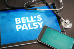 Bell's palsy (neurological disorder) diagnosis medical concept o stock image