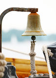Bell on sailing ship royalty free stock photo