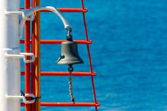 Bell on sailing ship Royalty Free Stock Images