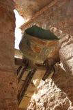 Bell of Sant Miquel del Fai cenobitic Benedictine monastery Bigues i Riells Sant Miquel del Fai Catalonia Barcelona Spain Royalty Free Stock Photo