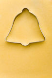 Bell shaped cookie cutter Royalty Free Stock Photo
