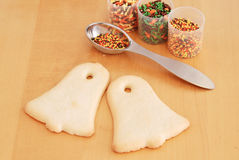 Bell Shaped Cookies Royalty Free Stock Photography