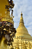 Bell sharp Shwedagon pagoda in heart of Yangon with beautiful cl Stock Images