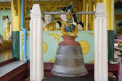 A bell at Shwedagon Pagoda, Yangon Stock Photography