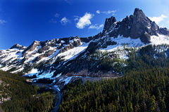 Bell Snow Mountain Washington Pass July Stock Images