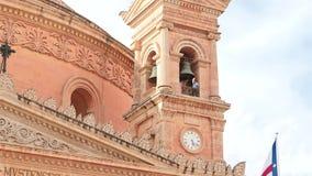 Bell sound making in Mosta Rotunda Church of Malta stock video