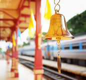 The bell is at the station Hua Hin in Thailand. Stock Image